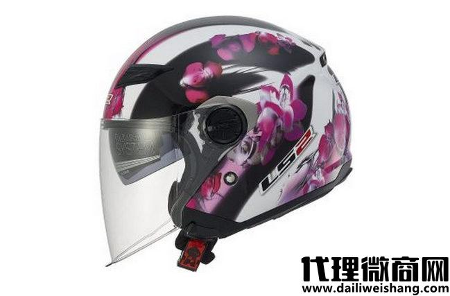 LS2头盔569轨道花卉开放式摩托车头盔