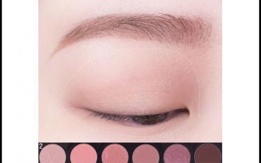 红棕色眼影妆容教程