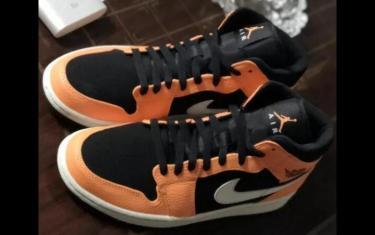 莆田鞋aj1mid黑橙小扣碎市场卖多少钱?